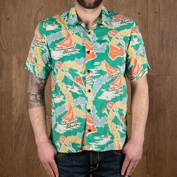 Chemise hawaïenne Hapuna verte Pike Brothers