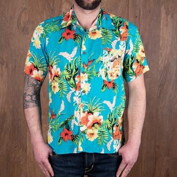 Chemise hawaïenne Hapuna bleue Pike Brothers