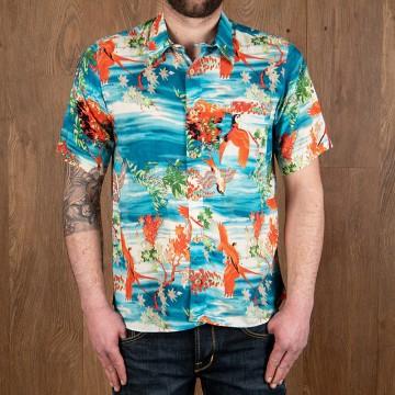 Chemise hawaïenne Miyamato bleue Pike Brothers