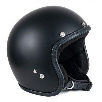 casque jet noir mat Seventies Helmets