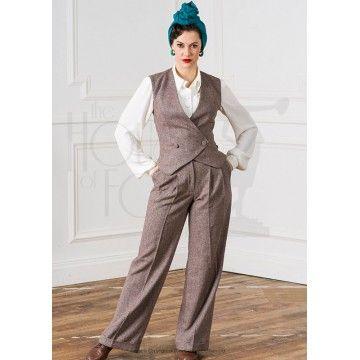 Pantalon costume femme Marlene 1930