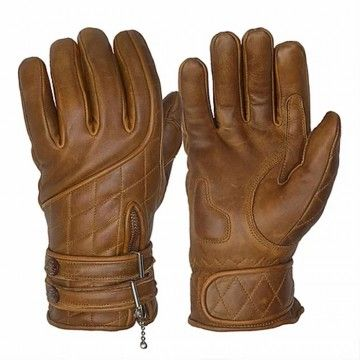Gants café racer marron Goldtop