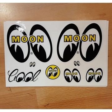 Planche de stickers Moon