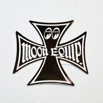 Stickers Moon maltese cross