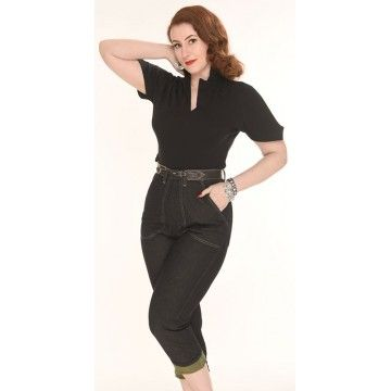 Pantalon pedal pusher black Freddies of Pinewood