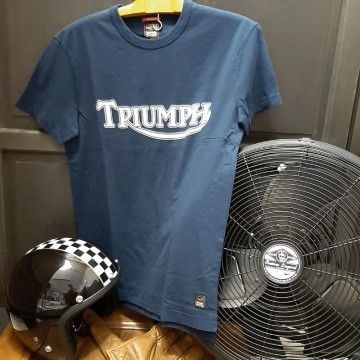 Tee-shirt Fork Seal bleu Triumph