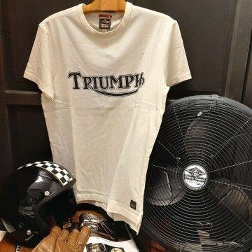 Tee-shirt Fork seal blanc Triumph