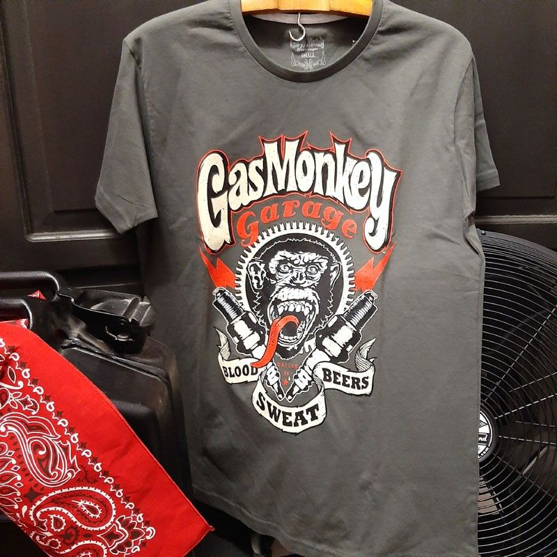 Tee-shirt spark Plugs Gas Monkey