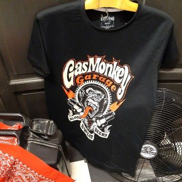 Tee-shirt Spark plugs noir Gas Monkey