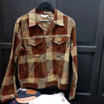 Levi's® Vintage Clothing Plaid Cord Trucker