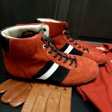 Chaussures Estoril rouge et noir Linea Di Corsa