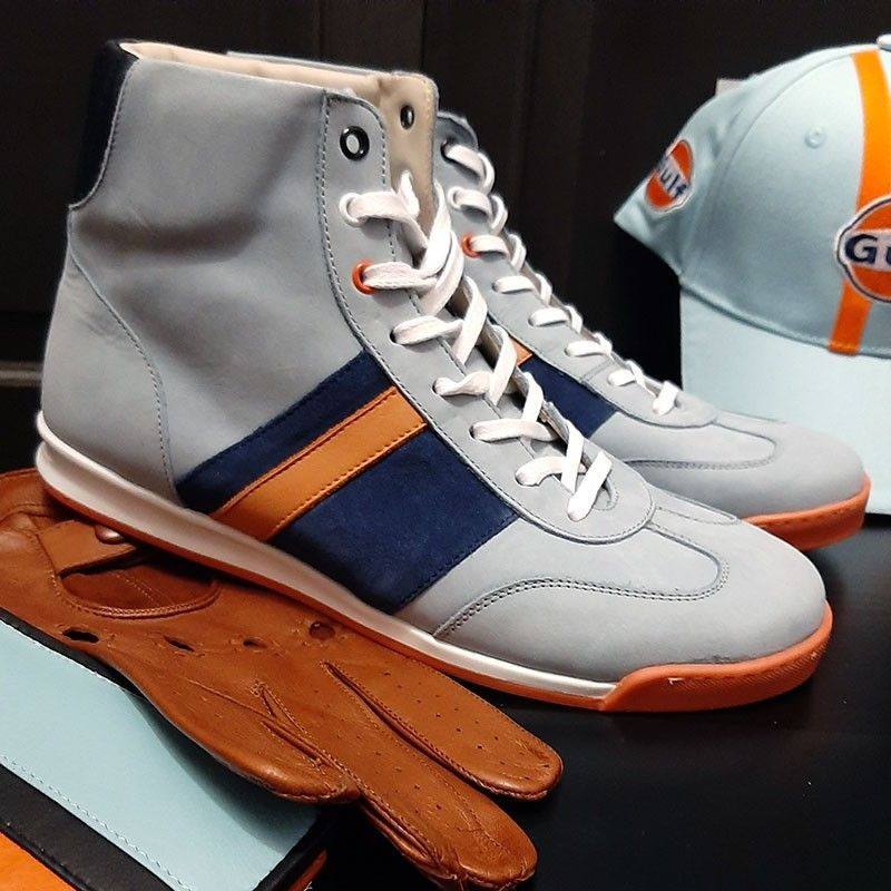 Chaussures Estoril Bleu orange Linea Di Corsa
