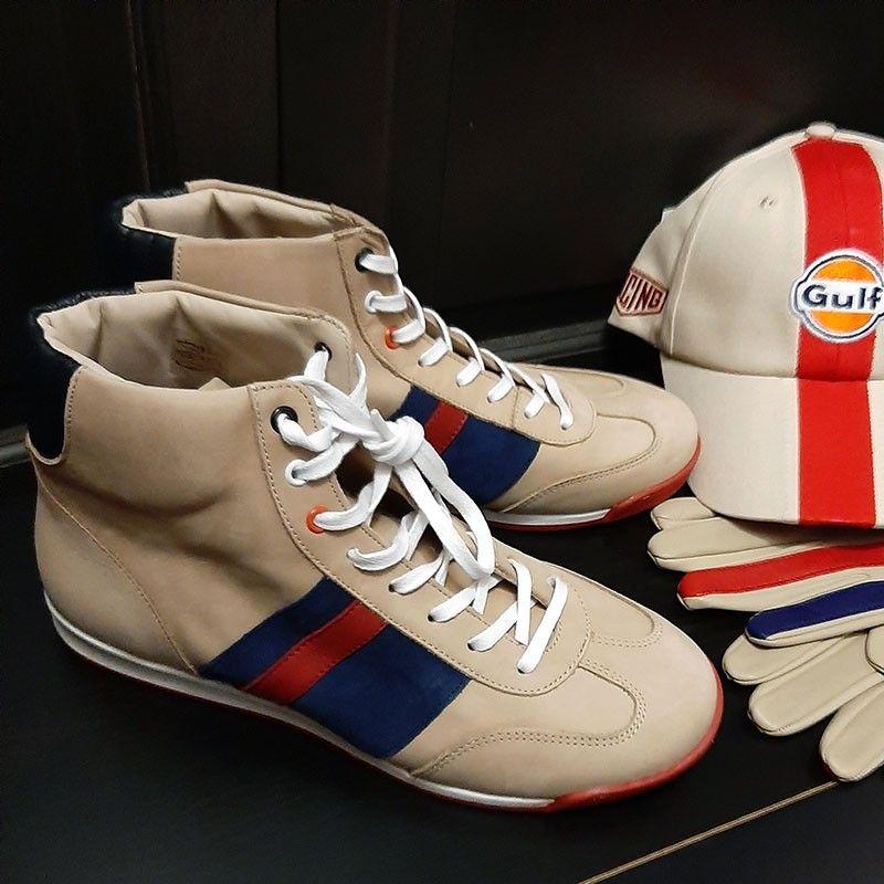 Chaussures Estoril crème et rouge Linea Di Corsa