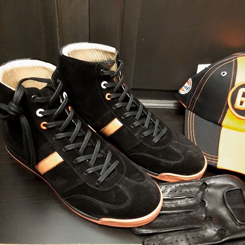 Chaussures Estoril noir orange Linea di corsa