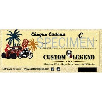 Chèque cadeau boutique