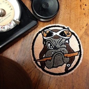 Patch chenille Bulldog In Memories