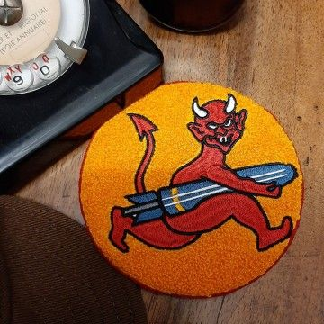 Patch chenille Red Devil In Memories