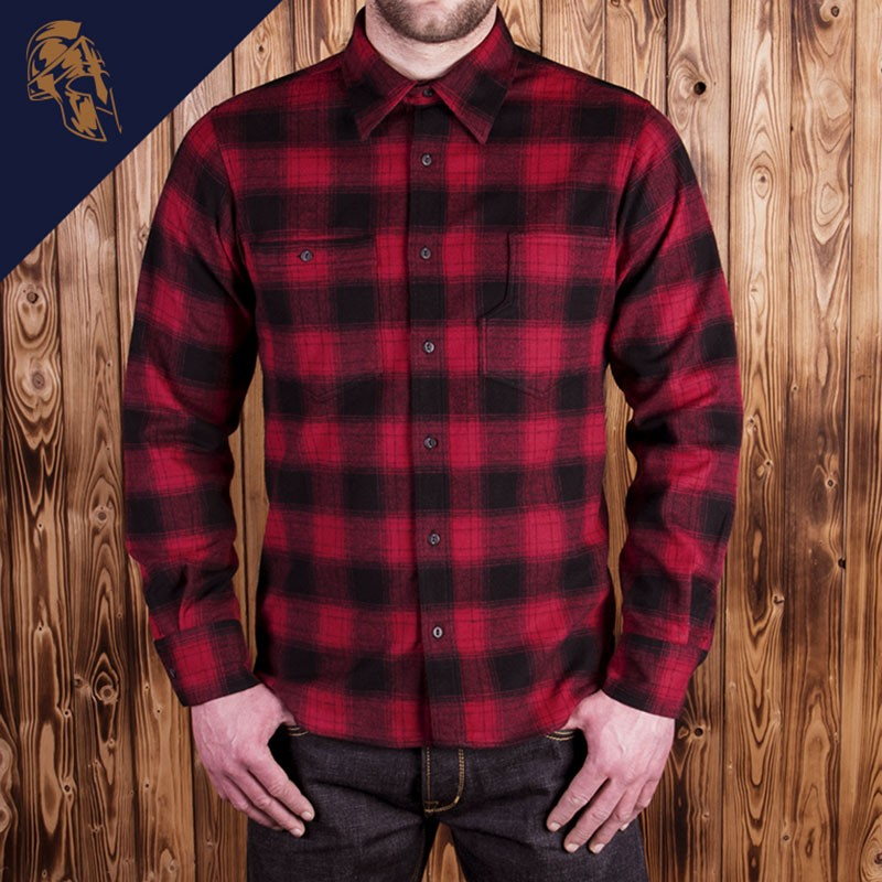 Chemise Roamer red check flannel Pike Brothers