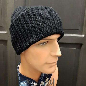 Bonnet laine Merinos noir Stetson