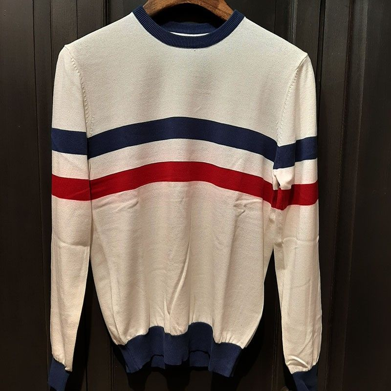 Polo tricot rétro scene Ow