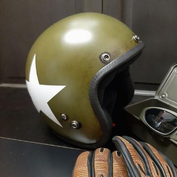 Casque jet Nato kaki Seventies Helmets