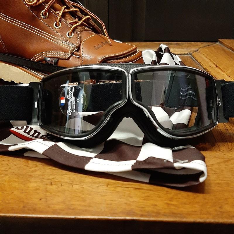 Masque chrome incolore anti-buée Aviator Goggle