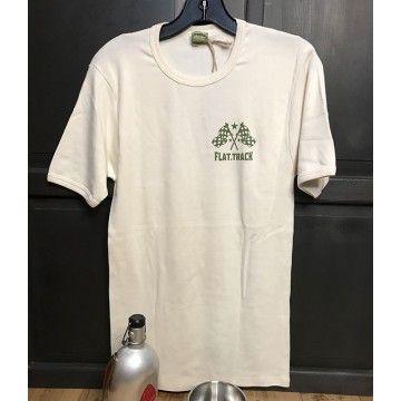 Tee-shirt Flat Track Brut Indigo