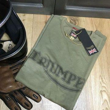 Tee shirt Fork Seal kaki Triumph