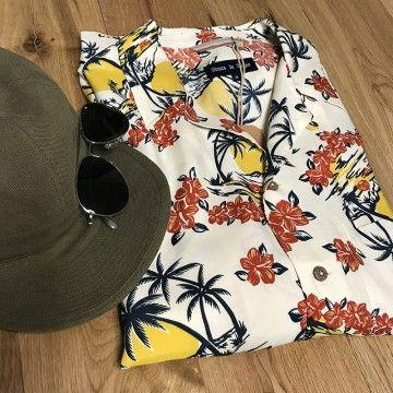 Chemise hawaiienne japan Fleurs de Bagne