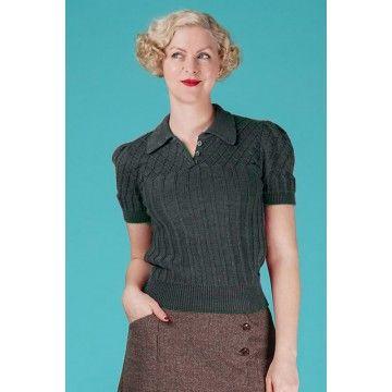 Knitwear rétro en maille