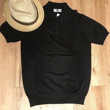 Polo tricot rétro MC Louie