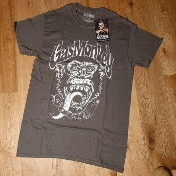 Tee-shirt distressed charcoal Gas Monkey