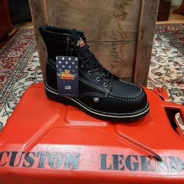Chaussures Moc Toe total black Thorogood