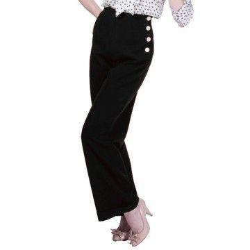Pantalon swing noir