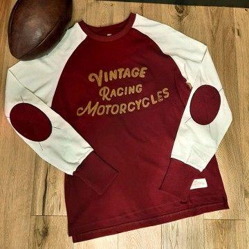 Tee-shirt heritage raglan Burgundy Age of Glory