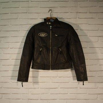 Veste en cuir noir femme Warson Motors