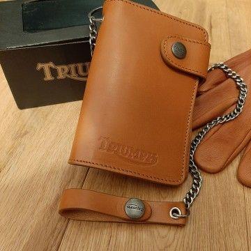 Portefeuille à chaîne Tan Triumph