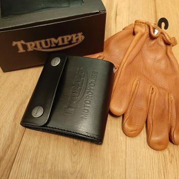 Portefeuille noir Triumph