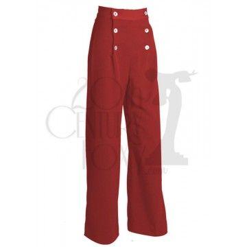 Pantalon à pont rouge