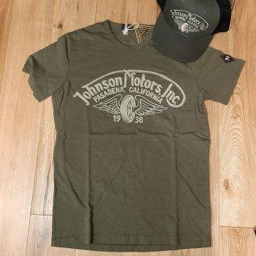 Tee-shirt Winged wheel kaki Johnson Motors