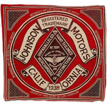 Bandana Diamond rouge Johnson Motors