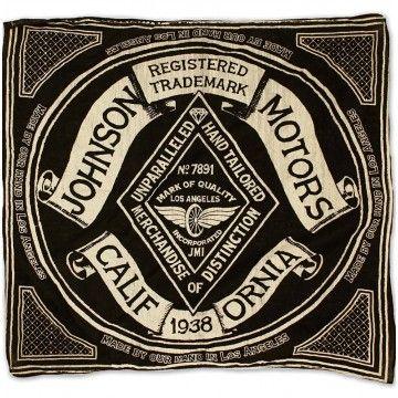 Bandana Diamond noir Johnson Motors