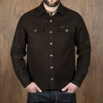 Chemise CPO moleskin soil brown Pike Brothers