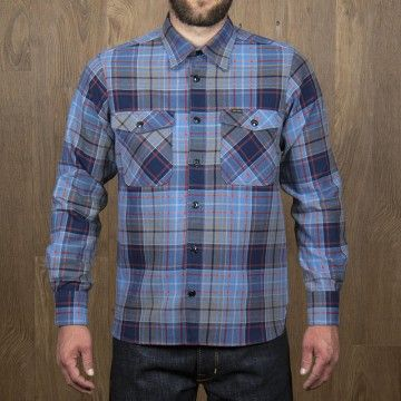 Chemise CPO 1943 Shelton blue Pike Brothers