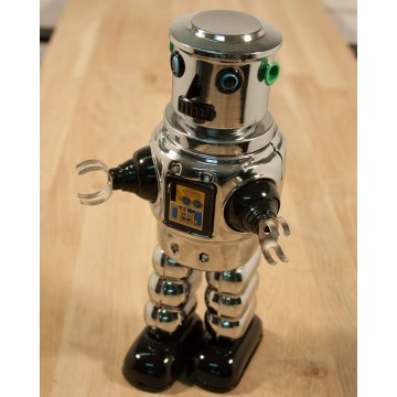 Robot Robbie cylindrique chrome