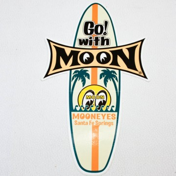 Sticker Moon surf Board