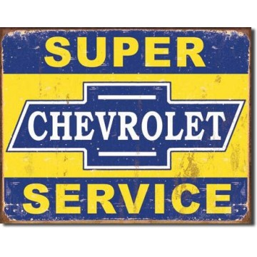Plaque Super chevy service