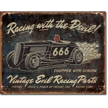 Plaque Vintage evil racing
