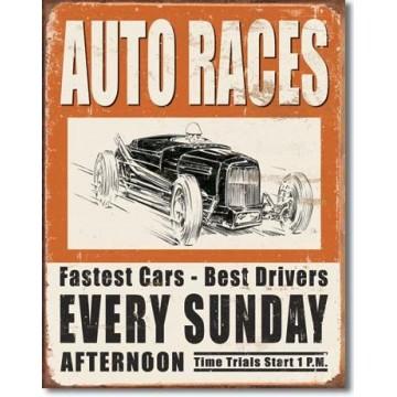 Plaque Vintage auto races
