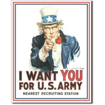 Plaque Uncle sam i want you